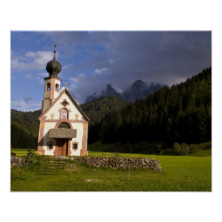 Beautiful isolated lonely church called Rainui Poster