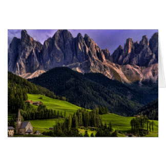 Beautiful isolated lonely church St Maddalena Card