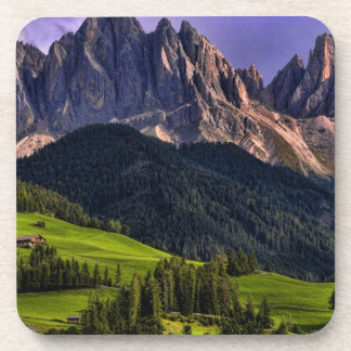 Beautiful isolated lonely church St Maddalena Coasters