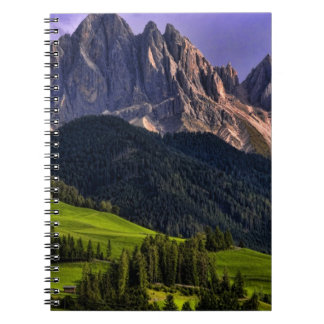 Beautiful isolated lonely church St Maddalena Spiral Notebook