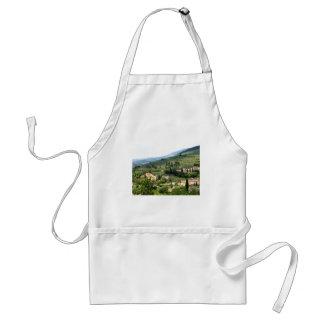 Beautiful italian landscape from Spello - Umbria Adult Apron