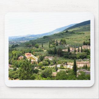 Beautiful italian landscape from Spello - Umbria Mouse Pad