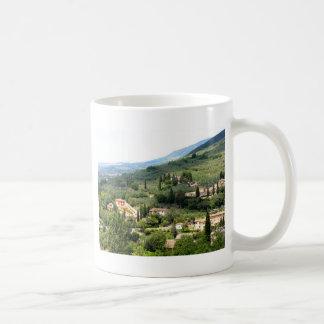Beautiful italian landscape from Spello - Umbria Mugs