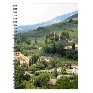 Beautiful italian landscape from Spello - Umbria Spiral Notebook