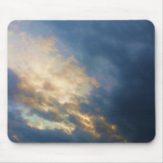 Beautiful Italian Sunset Sky with clouds Mouse Pad