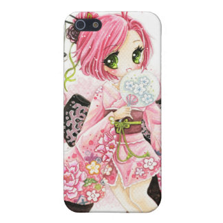 Beautiful Japanese girl in Kimono Case For iPhone SE/5/5s