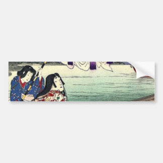 Beautiful Japanese Ladies on boat Bumper Sticker