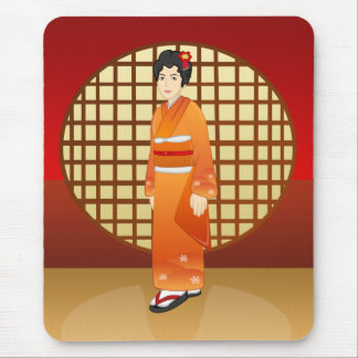 Beautiful Japanese Lady - Yaeko Mousepad