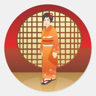 Beautiful Japanese Lady - Yaeko Sticker