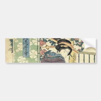 Beautiful Japanese Woman Bumper Sticker