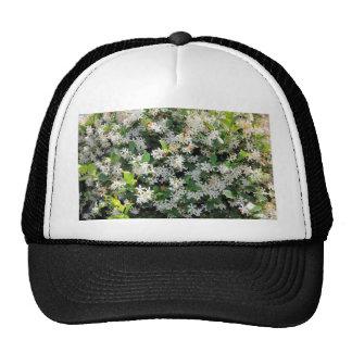 Beautiful Jasmine Flowers Mesh Hat