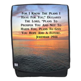 BEAUTIFUL JEREMIAH 29:11 SUNRISE PHOTO BACKPACK