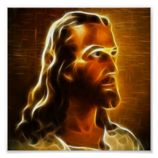 Beautiful Jesus Portrait 2 Poster