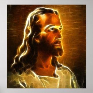 Beautiful Jesus Portrait Print