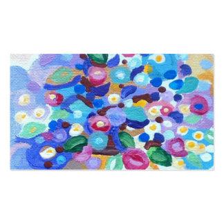 Beautiful jewel bright art flowers business card templates