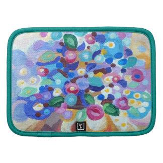 Beautiful jewel bright art flowers folio planners
