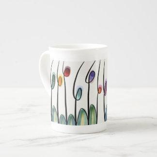 Beautiful jewel bright art tulip flowers tea cup