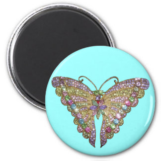 Beautiful Jeweled Butterfly Magnet