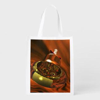 Beautiful Jingle Bell Grocery Bag