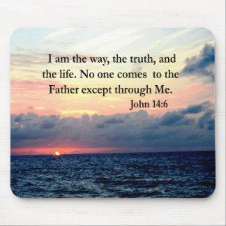 BEAUTIFUL JOHN 14:6 PHOTO DESIGN MOUSE PAD