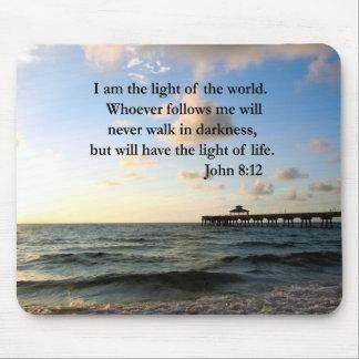 BEAUTIFUL JOHN 8:12 PHOTO DESIGN MOUSE PAD