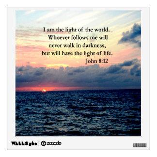 BEAUTIFUL JOHN 8:12 SUNRISE PHOTO WALL STICKER