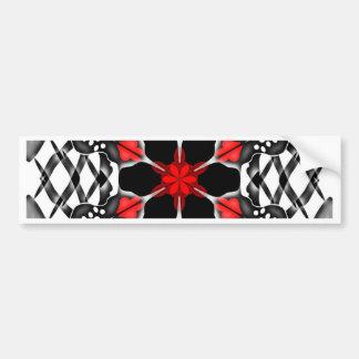Beautiful kaleidoscope flower bumper sticker