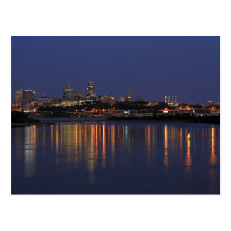 Beautiful Kansas City Skyline and Reflection Postcard