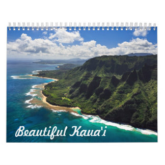 Beautiful Kauai Hawaii Calendar