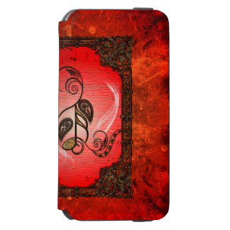 Beautiful key notes iPhone 6/6s wallet case