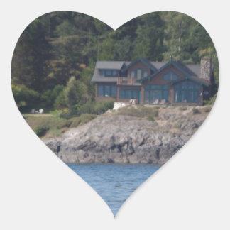 Beautiful Killer Whale Orca in Washington State Heart Sticker