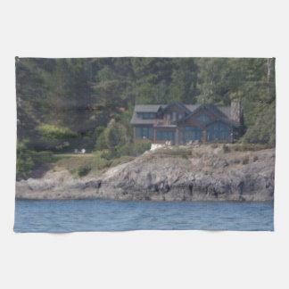 Beautiful Killer Whale Orca in Washington State Kitchen Towel