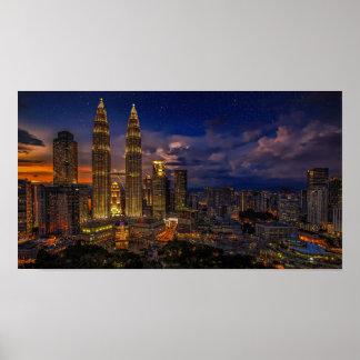 Beautiful Kuala Lumpur Petronas Twin Towers Poster