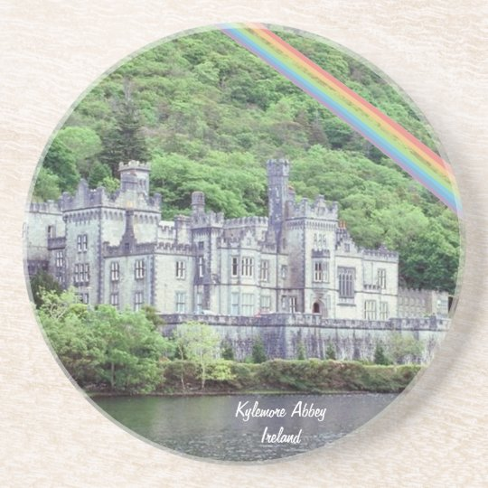 Beautiful Kylemore Abbey Connemara, County Galway Sandstone Coaster