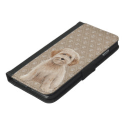 iPhone 6/6s Plus Wallet Case with Labradoodle Phone Cases design