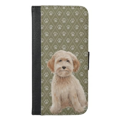 Beautiful Labradoodle Dog Paintings iPhone Case