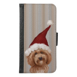 Galaxy S6 Wallet Case with Labradoodle Phone Cases design