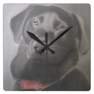 Beautiful Labrador Retriever Square Wall Clock