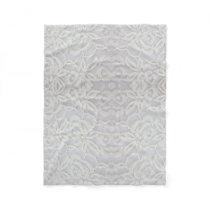Beautiful Lace Fleece Blanket