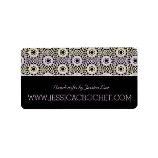 Beautiful Lace Lacy Chrochet Knit Pattern Label