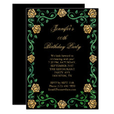 Beautiful Lacy Yellow Rose Framed Birthday Party Card