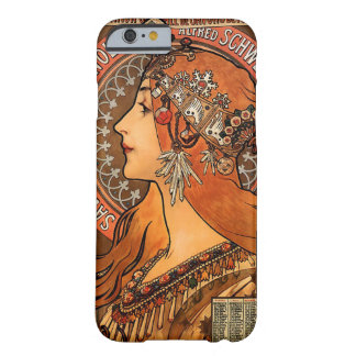 Beautiful ladies profile - Mucha Barely There iPhone 6 Case