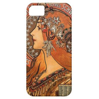 Beautiful ladies profile - Mucha iPhone 5 Case