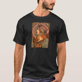 Beautiful ladies profile - Mucha T-Shirt
