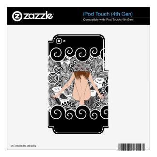 beautiful lady 1 iPod touch 4G skin