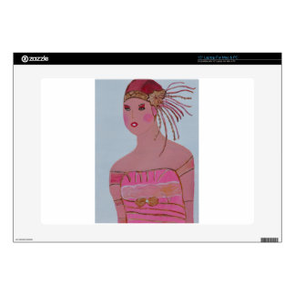 """Beautiful Lady 3.JPG Decal For 15"""" Laptop"""