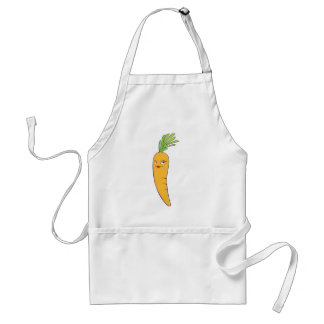Beautiful Lady Carrot Vegetable Adult Apron