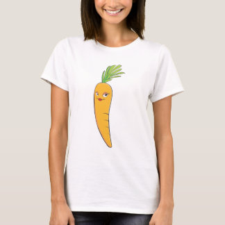 Beautiful Lady Carrot Vegetable T-Shirt