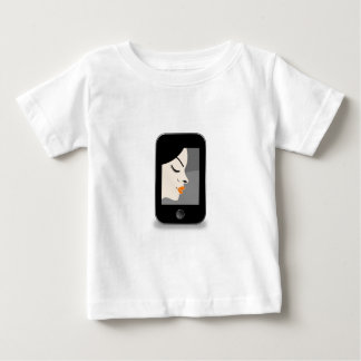 Beautiful lady in a mobile screen baby T-Shirt