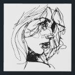 "Beautiful Lady Sketch Canvas Print<br><div class=""desc"">Beautiful Lady Sketch Canvas Print Illustration</div>"